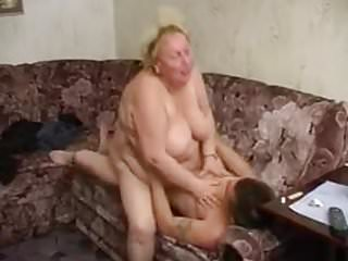 Russian Grannies Granny video: Horny russian granny's porno with young guy