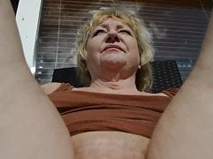 Goldenpussy Showcasing Her Golden Hair And Provocative Pussy