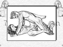Disegni erotici di Marc Blanton - Ninfe e Satiri