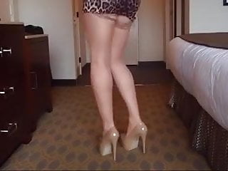 horny bottom enjoys hotel dress days