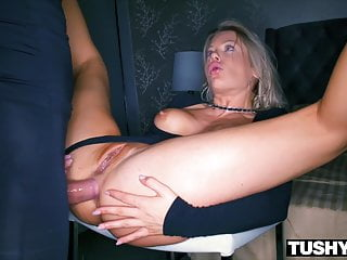 Blonde Blowjob Creampie video: TUSHYRAW Riley Steele Has Incredible Intense Anal Sex