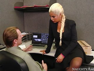 Blonde Blowjob Big Tits video: naughty america Bridgette B. fucking in the office