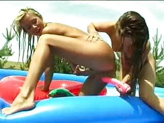 Lesbian Teens Toying in Pool by TROC