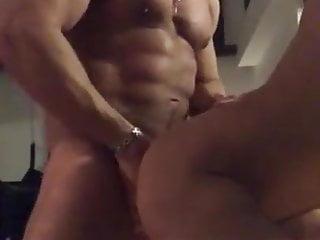 Amazing muscle blowjob bareback