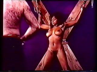 Nude ebony whipped...