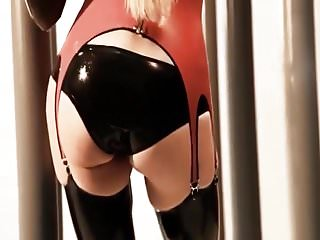 Glossy and sexy latex...
