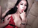 Shemale in stockings gets rammed