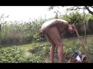 Straight fetish outdoors garden man anal toys 1025...