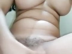 Horny Enormous Boobie College Doll Masturbating