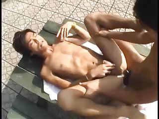 Boys outdoor bareback fuck...