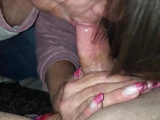 Blowing cock for cum