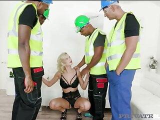 PrivateBlack - Wet Blonde Ria Sunn Gets Interracial Gangbang