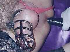 Anal play with sissy