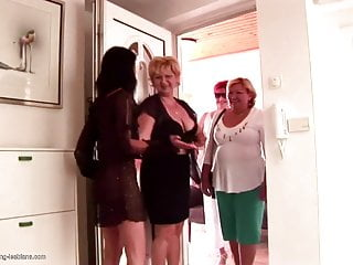 Insane lesbian with matures and strapons...