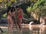 Brazilian outdoor threesome