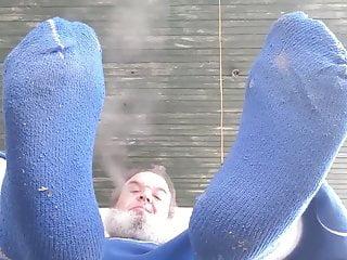 Big blue socks...
