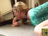 Slutty blonde wife Ivey Passion nailed hard in the kitchen