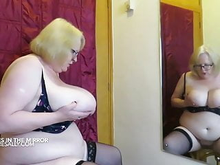 Granny gets tits out...