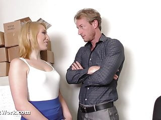 Hot Blonde Fucks Or Gets Fired!