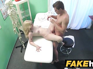 Fake hospital fit cock so doctor gives her...