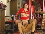 Nasty Big Tits Czech Granny Stockings Fucks Young Guy