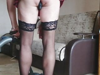 The girl is engaged in household chores2