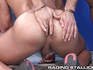Ragingstallion latino gets pounded...