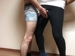 Azeri spandex groping dig encoxada spandex. azerilasin baku