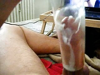 Wanking and Shooting a Big Load in a Vase