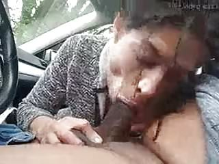 Wife giving her hubby a bj