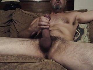 Hung hairy Daddy horny masturbation ans cumshot