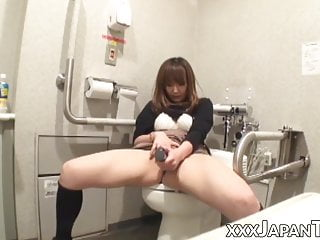 Chubby JAV girl makes use of kinky intercourse toys in public bathroom