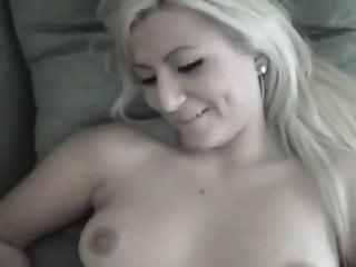 Bitchy blonde girlfriend fucks