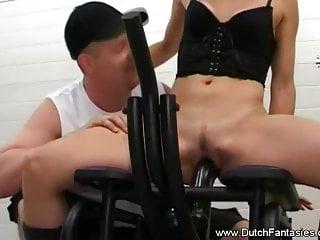 Dutch cowgirl rides her man 039 all night...