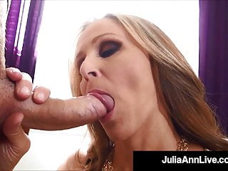 Mega Hot Milf Julia Ann Slobbers On, Sucks & Milks Cock POV!