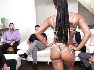 Black slut Cali Caliente's Training Turns To Threesome