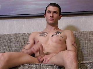 Activeduty straight tall italian soldier jerks his dick...