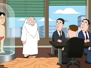 Gods Small Penis in American Cartoon for Joke Asian