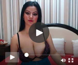 Busty brunette with big areolas poking out