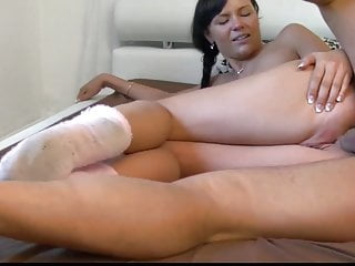 Shy Teen With her New Owner of an Apartment Paying with Ass