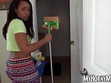 Pretty latina maid fucked doggystyle for sweet moolah