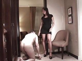 slave Joschi get face slap lesson by goddess Perfecta