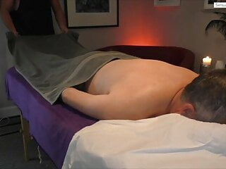 Sensual male to male massage performed by muscle hunk AJ