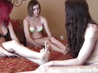 She worship feet going to our of is both