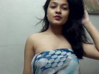 IndianGirl remove clothes in front of web cam for boyfriend