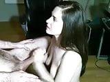 Great handjob and jizz on her boobs