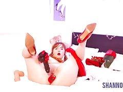 SANTA'S LITTLE SLUT OPENS HIS SACK - Shannon Heels