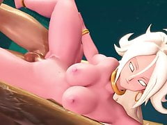 Dragon Ball 3D Hentai Android 21 Fucked Sensually From Side