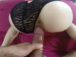 her in Girlfriend and cum doggie mouth loves