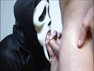 British slut Megan Coxxx in a Scream parody
